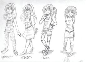 KK girls outfit designs by princessofDisney27