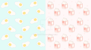 milk carton and fried egg custom background (free) by creamwave
