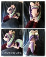 MLP Rainbow Rocks Aria Blaze Plush Ponified by CINNAMON-STITCH