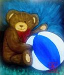 Teddy Bear and Ball by Hemamal
