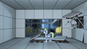 Derpy's trip to Aperture by jack27121