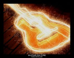 Guitar on fire by scmeder