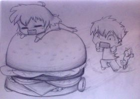 And THEN...Mobile cheeseburgers by IfreakenLoveDrawing