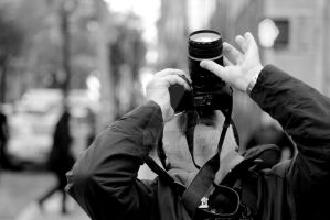 trying to get that shot (B and W) by darthbriboy