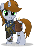 Littlepip happy by Vector-Brony