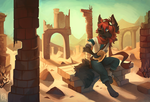 Sun castle by Flemaly