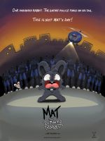 Mat the Demented Rabbit poster by Machu