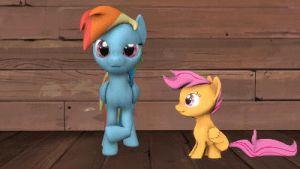 Rainbow Dash and Scootaloo Dawwww - Animated by argodaemon