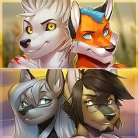 Some pair icons commish by vagab0nda