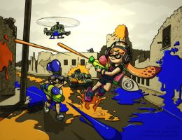 Splatoon vs. The Platoon by sage-of-spice