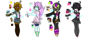 [CLOSED] Girl Auction Adopts by CrystalAngelAqua