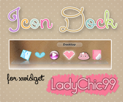 Icon Dock for xwidget by LadyChic99