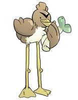 here, have a farfetch'd by LarcynXI