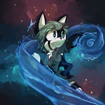 Lake the Wolf - Galaxy and Water practice by JustASonicFan