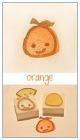 Citrus stamps - Otis Orange by restlesswillow