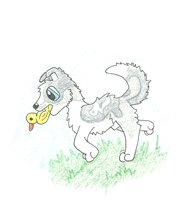Blu and His Ducky by PaintSet