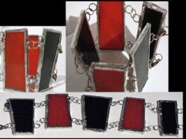 Soldered Glass Bracelet by ClockCollector