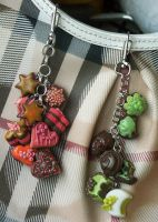 Polymer Clay Sweet Keychains by Aaorin