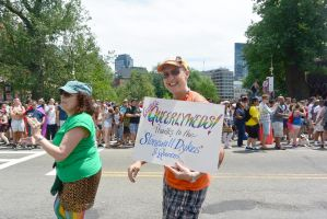 2015 Boston Pride Parade, the Queerlyweds by Miss-Tbones