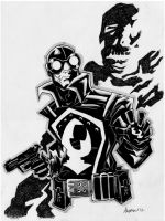Sketch 017 of 100 LOBSTER JOHNSON by misfitcorner