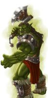 DS: Orc Male colored by willowWISP