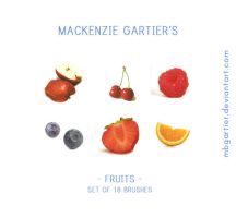 Fruits' Brushset. by MBGartier