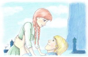 Kristoff and Anna by JBriana167