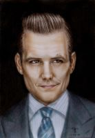 Gabriel Macht - Harvey Specter by tanjadrawing