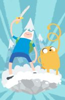Finn and jake fanartooo by Watertae