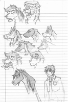 Sketches Again I by ZappyAttack