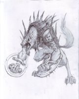 Werewolf Warder Pencil by DanielDecena