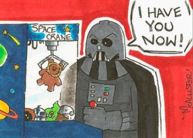 MOD Darth Vader Sketch Card by zaymac