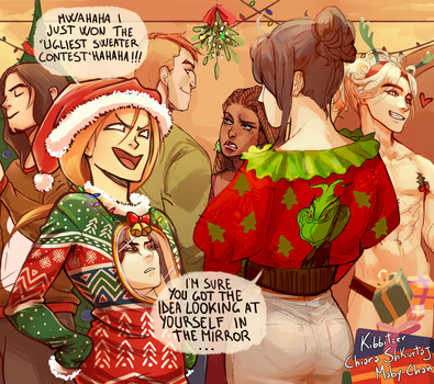 Collab: Ugly xmas sweater XD by Kibbitzer