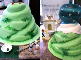 Super Mario Wedding Cake Part2 by Verusca