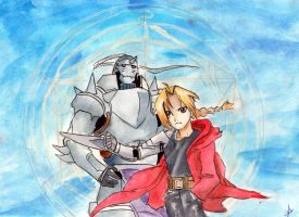 Fullmetal Alchemist: The Elric Brothers by RedAugen