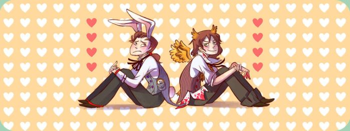 Bunny Jekyll and Owl Hyde by otherwise