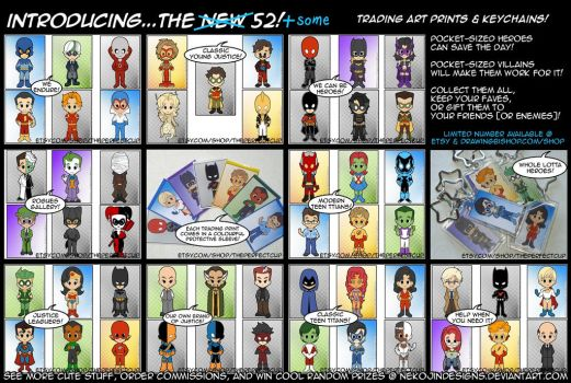 The Better Than NEW 52 (plus some...) by nekojindesigns