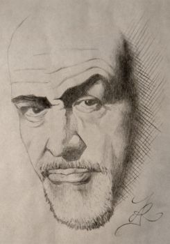 Sean Connery portrait by ask0r