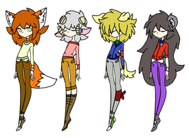 Mixed Kemonomimi Offer to Adopt Batch 3 OPEN by Riverthunder