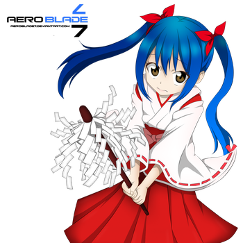 Shrine Maiden Wendy - Fairytail(Coloring) by aeroblade7