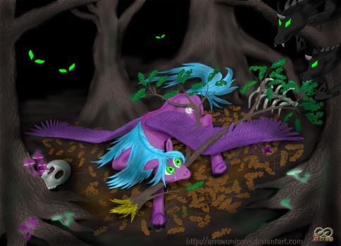 Crash Landing in The Dark Forest by ArrowUnicorn