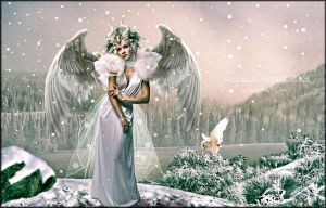 A Snowy Winters Angel by SuzieKatz