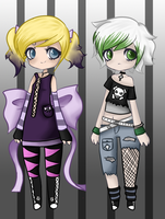 Goth Adopts: Male and Female (1/2 OPEN) by Kitturr