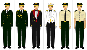 Uniforms of the Ground Self-Defense Force by kyuzoaoi