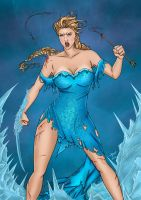 Frozen- Elsa Colored by likwidlead