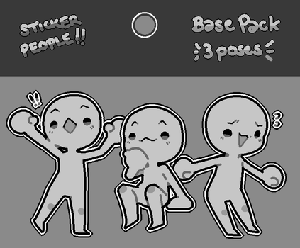 [P2U] Sticker People Bases by toripng