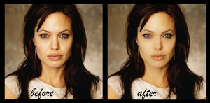 Angelina Before and After by lilithStyle