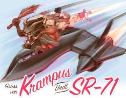 Happy SR-71 Day From Krampus by malara-art