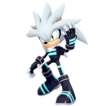 Silver The Hedgehog (RaceSuit Outfit) Render by Nibroc-Rock