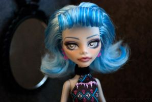 Monster High Repaint: Ghoulia 03 by ivy-cinder